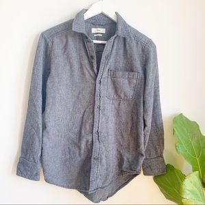 Aritzia Tna Grey Cotton Button Down Shirt Size XS